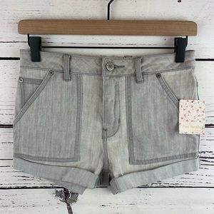 Free People High Rise Slim Cuffed Sequoyah Shorts